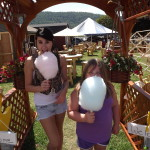Holly & Stormy enjoying their Cotton Candy at the Delaware county Fair in Upstate, NY
